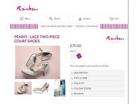 Rainbow club bridal shoes