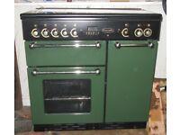Green dual fuel Range master cooker 90cm