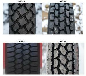 11R24.5 11R 24.5 11 R 22.5 DRIVE TRAILER & STEER TRUCK TIRES NEW - LONGMARCH & COMFORSER
