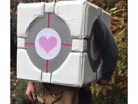 Fancy dress costume with a heart: Portal Companion Cube