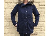 BNWT - LADIES NAVY BLUE PARKER STYLE COAT from GAP, size M