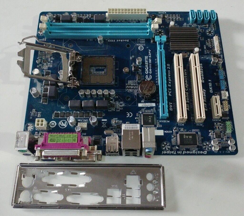 Gigabyte Ga H61m Ds2 Dvi Microatx Motherboard Intel Lga1155 Socket Mainboard Extreme H61 Soket 1155 S2pv H2 Pc