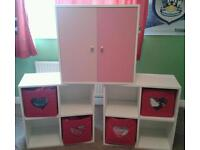 Girls wooden storage x 3