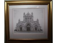 Large Framed Limited Edition Print ST ANNES CATHEDRAL, BELFAST by C GRAINGER