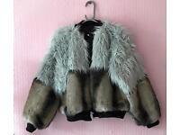 TDS The Design Studio Hawarden Faux Fur Bomber Jacket