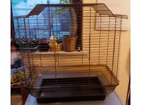For sale bird cage with stand.