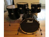 """PEARL VISION BIRCH shell pack 22"""" Bass drum & 12"""", 13"""" & 16"""" toms BLACK"""