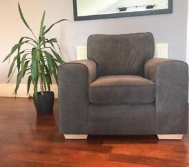 Brand New DFS Grey Pizzazz Armchair