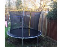 Big trampoline (2.1 metres) with safety net, just like the John Lewis Ads, perfect for Xmas!