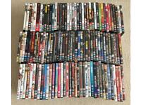 Large job lot of 118 DVDs. All in good working order. Films as seen in photos. Most genres