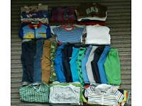 Baby boys clothes bundle 12-18 months #54 items