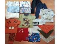 Boys Baby Clothes Bundle 9-12 mths