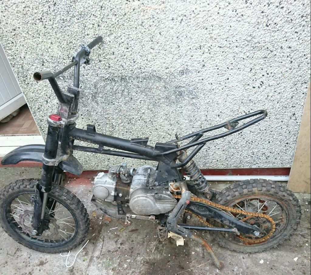 OFFERS Pitbike rolling frame stomp 110cc 2014 | in Swansea | Gumtree
