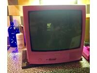 Pink TV & DVD Player set