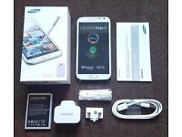 Samsung Galaxy Note 2 White in a Box with all the Accessories - SIM FREE UNLOCKED To All Networks