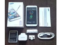 SAMSUNG GALAXY NOTE 2 WHITE | GREY SEALED SIM FREE UNLOCKED BOXED WITH ALL ACCESSORIES- REFURBISHED