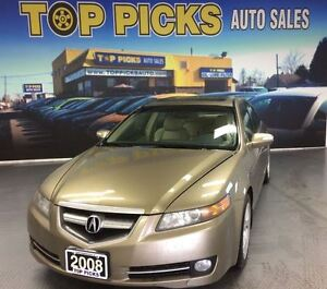 2008 Acura TL LEATHER, SUNROOF, ALLOY WHEELS AND MORE!