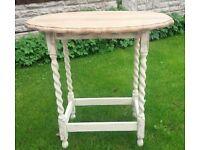 shabby chic oak barley twist table