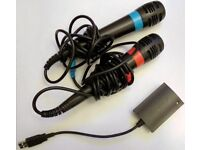 PS3 and PS4 Singstar Microphones & Adapter