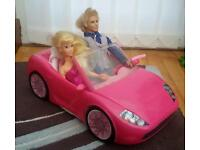 Barbie and Ken with car