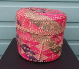 Vintage Woven Basket from Pitcairn