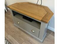 TV Corner Unit - Oak Furniture Land St Ives
