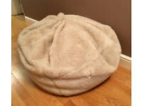 Giant Furry JOHN LEWIS Cream Bean Bag - REALLY SOFT - Home Decoration Seating Large XL