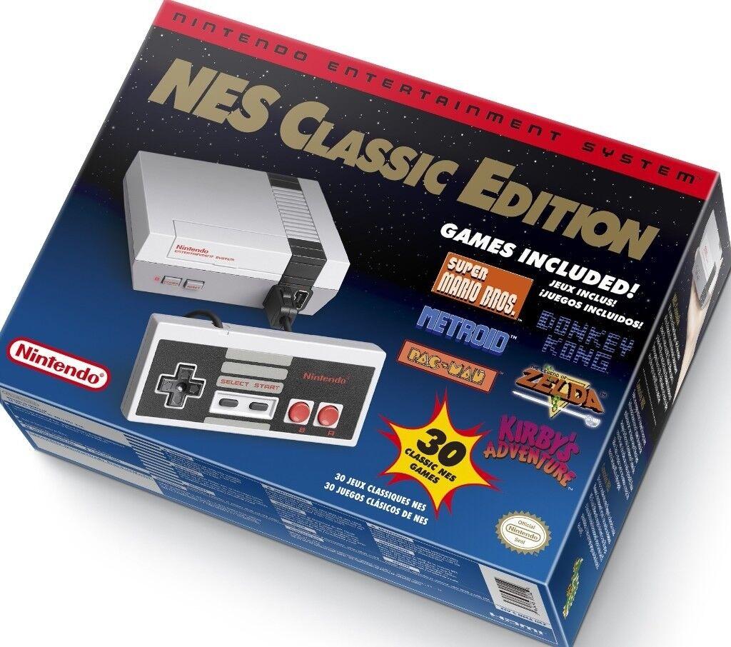 New Boxed Rare Nintendo Nes Classic Mini Edition Games Console With
