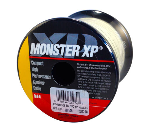 Monster Cable XP Navajo White Compact Speaker Wire 20 FT XPN