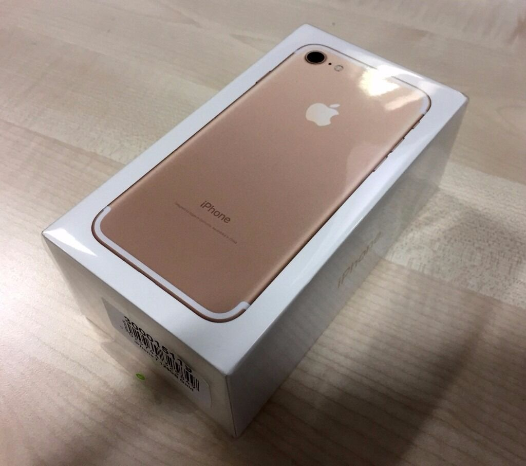 iphone 7 128gb gold bnib 1 year warranty all sealed in. Black Bedroom Furniture Sets. Home Design Ideas