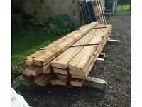 "Red Pine 9"" x 3"" timber 10ft lengths"