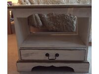White & Gold Shabby Chic Bedside Table