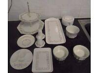 Assorted Range of Eternal Bow Pattern Tableware / Kitchenware