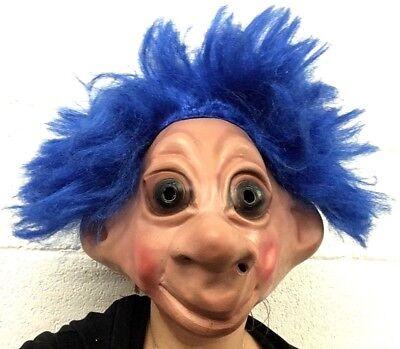90er Jahre Kostüm Troll Maske Halloween Puppe Spielzeug Lucky Viel Glück Latex
