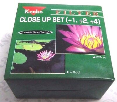 Genuine 37mm Kenko Close-up Macro +1 +2 +3 Set Kit Lens F...