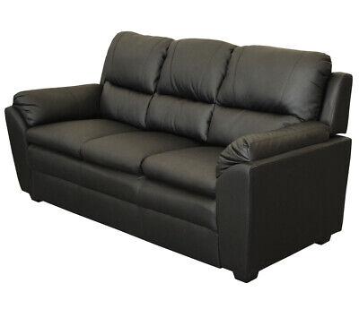 Schwarz 3-sitzer (KMH® 3-sitzer Wohnzimmercouch Sofa Kunstleder Wohnzimmersofa Couch Polstermöbel)