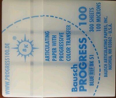 Dental Bausch Progress Articulating Paper Blue 300 Strips Bk 51 Germany