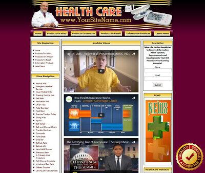 Health Care Store - Turnkey Affiliate Website Dropship Free Domain Name