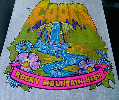 Vintage  Rare Coors Rocky Mountain High  Iron On Transfer By Roach Beer