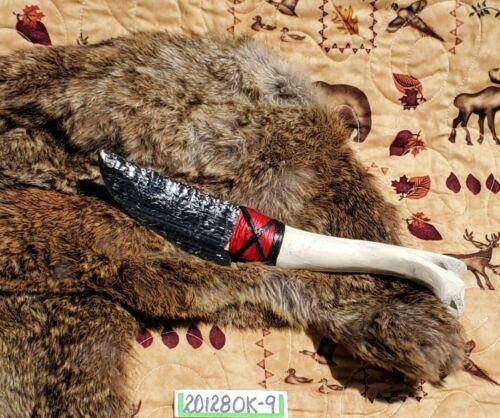 OBSIDIAN KNIFE with BONE HANDLE