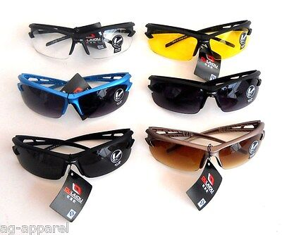 SHATTER PROOF SAFETY SPORTS SUNGLASSES GOLFING CYCLING OUTDOOR UV 400 USA (Proofs Sunglasses)