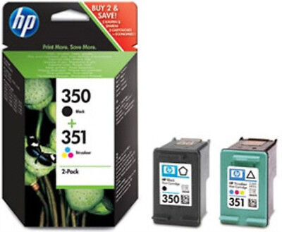 HP 350 351 COLOUR & BLACK Ink CartridgeS (SD412EE) D4200 C4440 C5275 J6400 D4360 for sale  Shipping to Ireland