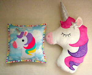 PATCHWORK /QUILTING APPLIQUE UNICORN CUSHION SEWING PATTERN by Gail