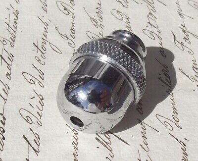 Vintage French Chrome Acorn Light Blind Curtain Pull Weight