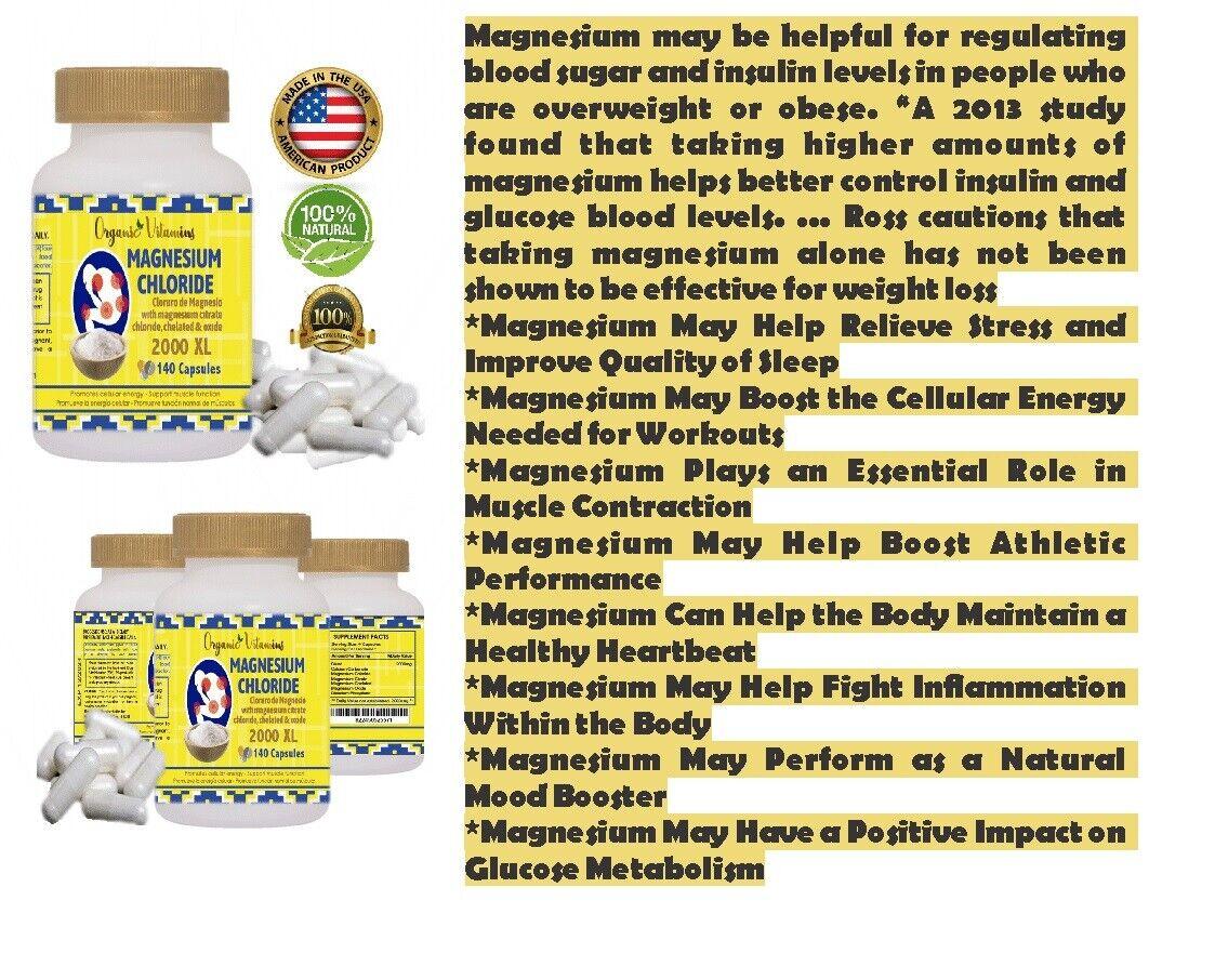 Magnesium complex  High Absorption Mag Supplement Magnesium 140 capsules keto  10