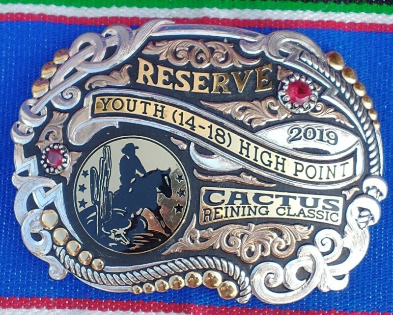 Gist Reserve High Point Cactus reining  Rodeo belt buckle trophy