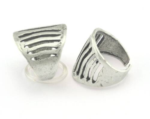 Adjustable Ring Antique Silver Plated brass (18mm 8US inner size) 3256 ring21