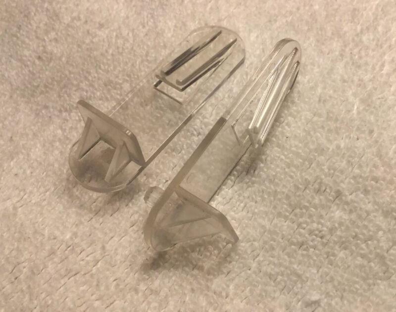 "(28) 3/4"" Locking Cabinet Shelf Clips Support Bracket Clear 5mm Peg"