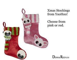 NEW-YooHoo-and-Friends-Christmas-Xmas-Stockings-with-soft-toy-by-Aurora