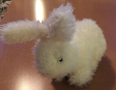 White Curly Haired Bunny Rabbit Plush 7